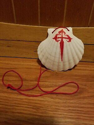 Santiago De Compostela Hand Painted Pilgrimage Scallop Shell