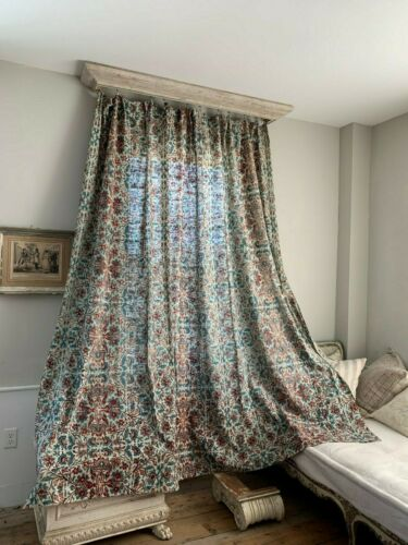 Curtain Antique French timeworn panel AGED drape large