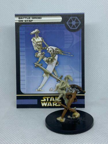 Star Wars Miniatures: Clone Strike - Battle Droid on STAP