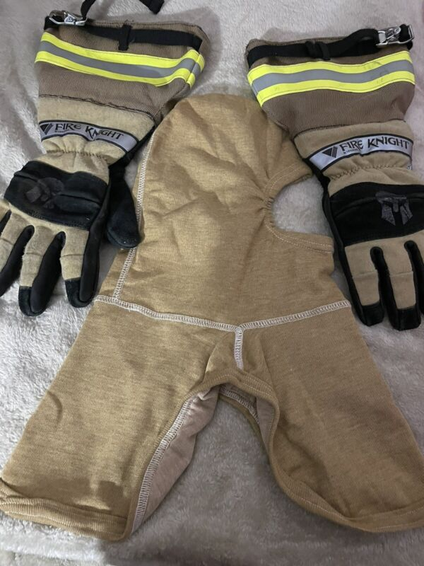 Fire Knight By Veridian Firefighting Gloves Size Large With Long Cuffs Worn Once