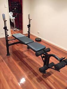 Weights bench with 60kg of weights Stafford Heights Brisbane North West Preview
