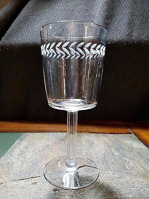 "Imperial Glass ""Laureate"" pattern Water Goblet Glass  7 1/4"""