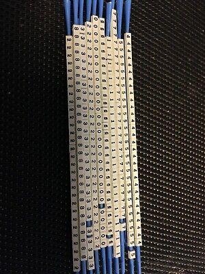 Brady Scn-07 Electric Wire Marker Sleeve Clips 0-9