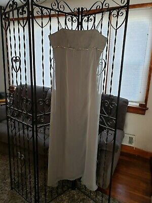 Chiffon Iridescent Bridesmaid Dress (Prom Homecoming Bridesmaids Iridescent Chiffon Empire A-line Pewter Gray Size)