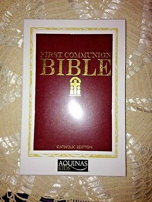 First Communion Bible* for Boys Gold Stamped Padded Hardcover *NEW* in Gift Box (1st Communion Gifts For Boys)