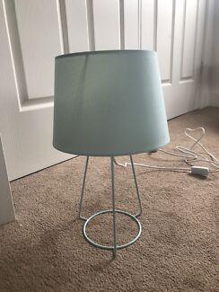 Light blue bedside table/desk lamp