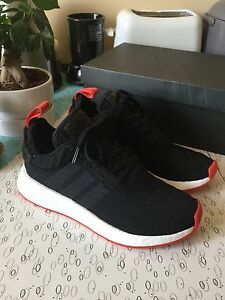 Adidas NMD R2 Black/Red Size 7 Deadstock