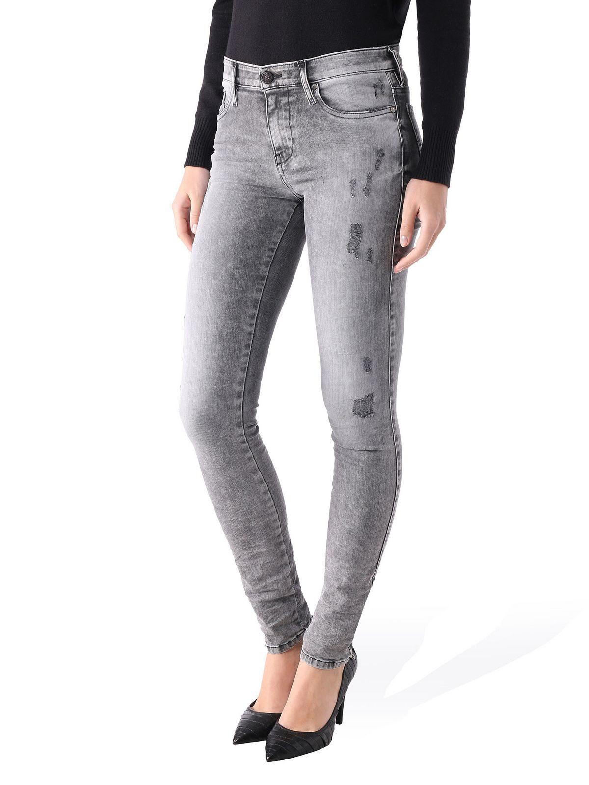 ff5a3075c38ddd New Women's Diesel D.N.A Skinzee Super Skinny Jeans WASH0847Y | eBay