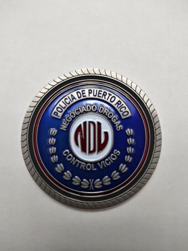 Police Challenge Coin, Puerto Rico Narcotics unit