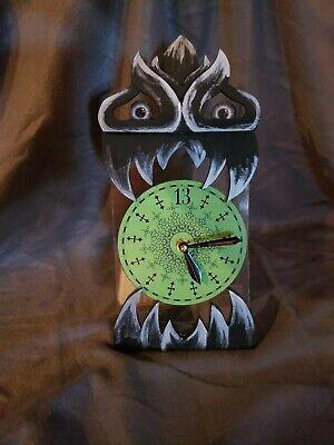 Haunted Mansion / House Floating Clock Whimsical Clock Art Handmade