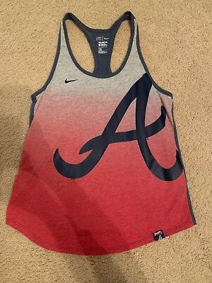 MLB Atlanta Braves Nike Tank Top Shirt Women Size Large