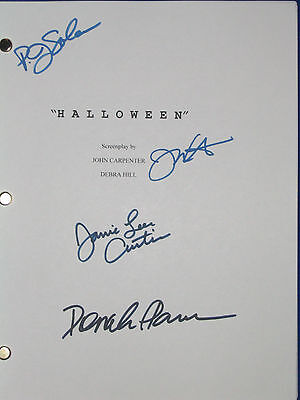 Halloween Script Movie Signed 4X Jamie Lee Curtis P.J. SOLES PLEASENCE reprint  - Halloween 4 Script