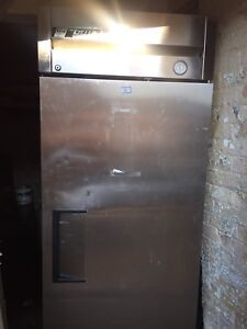 True stand up stainless commercial freezer