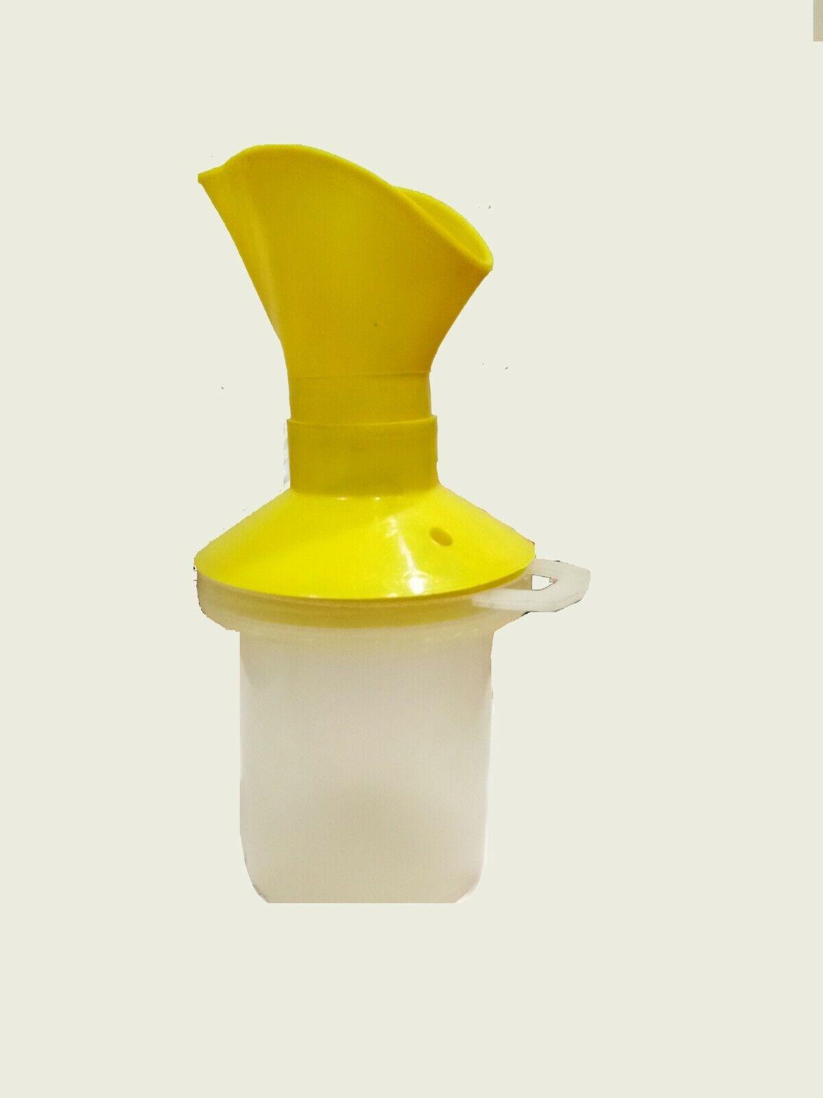 Yellow 3 In 1 Attachment Facial Sauna Steamer Nose Steamer N