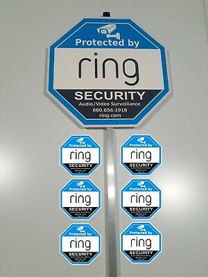 - Ring security yard sign 6 outdoor Window/Door with a Aluminum Pole Stake