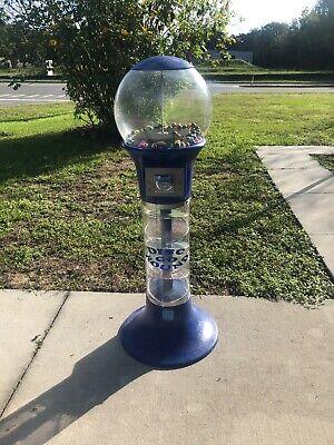 Beaver 5ft Disc Go Round Blue .25 Bulk Gumball Vending Machine