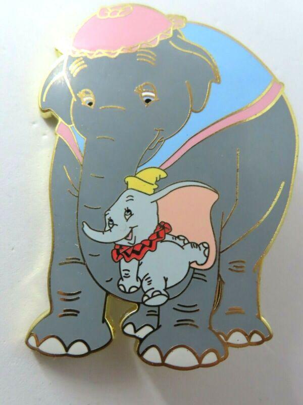 Disney Pin ACME HotArt Classic Cutout Mrs. Jumbo & Dumbo Gold LE 500 #131352