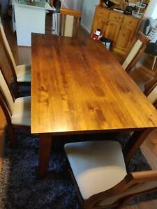 Timber 6 Piece Dining Table Set