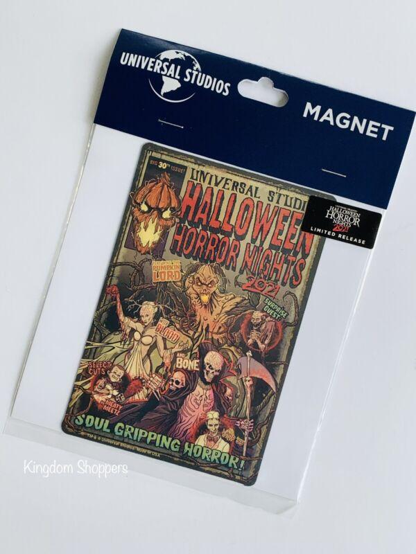 2021 Halloween Horror Nights Comic Cover UNIVERSAL STUDIOS ORLANDO CAR MAGNET