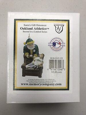 Oakland Athletics Santa's Gift Christmas Ornament Memory Company Limited Series - Oakland Athletics Santa