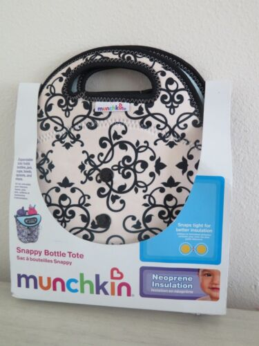 Munchkin Snappy Bottle Tote Expandable Neoprene Insulated Lunch Cooler Baby Bag
