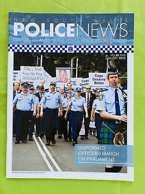 New South Wales Police News: January 2012. PANSW Magazine. Vol. 92. No. 1. VGC.