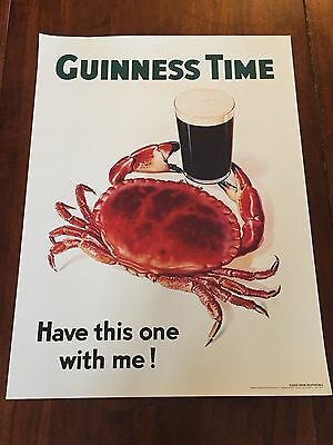 """Guinness Gilroy Crab Poster 30"""" X 22"""""""