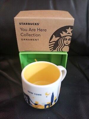 Mini Mug Cup (NEW WITH BOX Starbucks New York You Are Here ORNAMENT Mini Mug Cup 2 FL OZ)