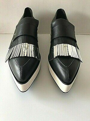ALEXANDER McQUEEN OVER SIZED BLACK CALF LEATHER SNEAKERS