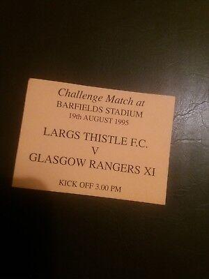 Largs v Rangers Friendly Ticket Aug 1995
