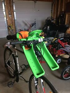Toddler bicycle seat - IBERT GREEN SAFE T SEAT