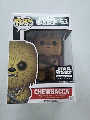 Star Wars Funko Pop Smugglers Bounty Flocked Chewbacca Exclusive 63
