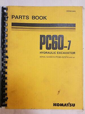 Komatsu Pc60-7 Excavator Parts Book Manual Catalog Pepb012403 52374 And Up