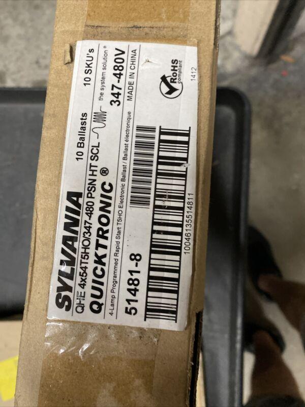 Sylvania QHE4X54T5HO/347-480-PSN-HT-SCL Quicktronic Fluorescent Ballast  New