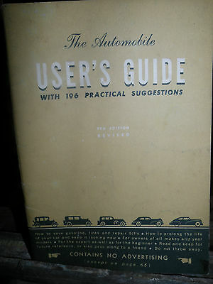 The Automobile Users Guide by General Motors 1946 7th Edition
