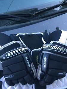 Hockey gloves and hockey chest protector