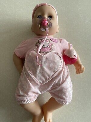 Baby Annabell Interactive Doll with dummy and bottle