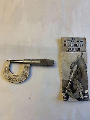 Brown Sharpe Micrometer Caliper