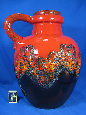 "Beautiful ""Lava"" glazed 70´s design Scheurich pottery Keramik  vase 486 - 38"