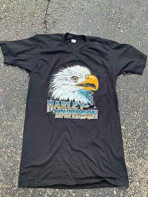 Vtg Harley Davidson T Shirt 80s 90s Holoubek Pocket T single stitch Made In USA