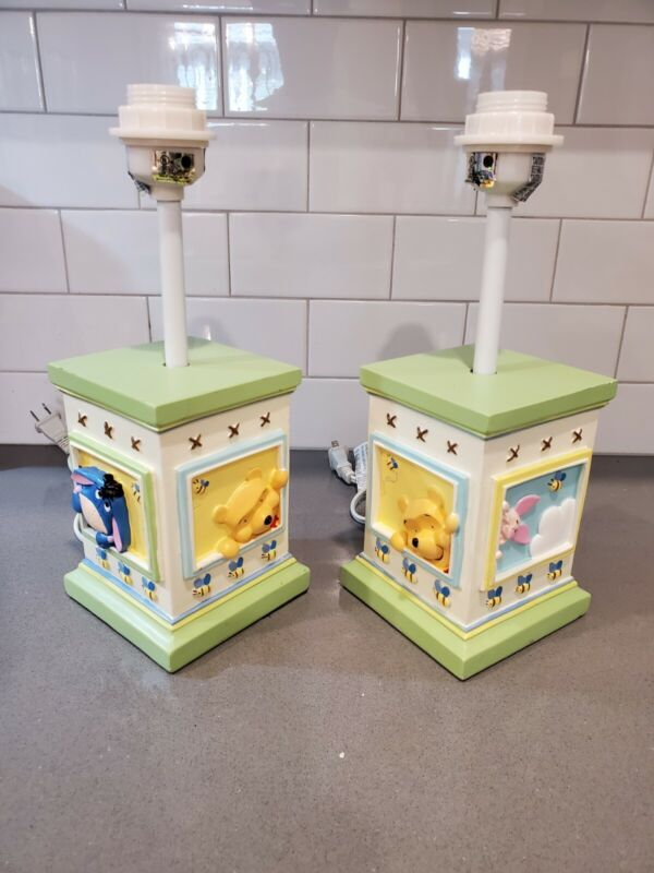 2 Winnie The Poo Table Lamps With Friends No Lamp Shade