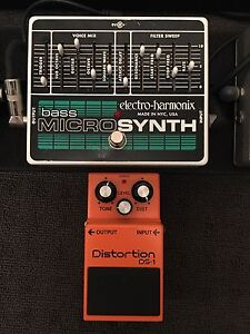 Guitar effects pedals Electro Harmonix Bass Synth & Boss Distortion Elermore Vale Newcastle Area Preview