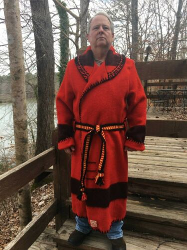 Rare Hudson Bay Capote Blanket Coat SZ L- Black Powder, Rendezvous, Mountain Man