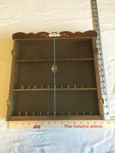 Wood Thimble Display Case with Plexiglass Doors