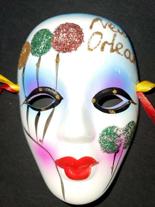 Mardi Gras Ceramic Face 4 Inches New Orleans