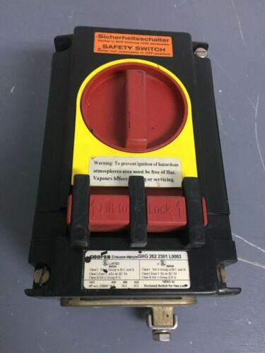 COOPER CROUSE HINDS GHG 262 2301 L003 DISCONNECT SAFETY SWITCH EXPLOSION PROOF