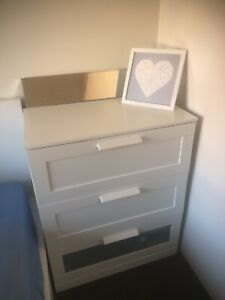 IKEA Chest of 3 drawers and mirror