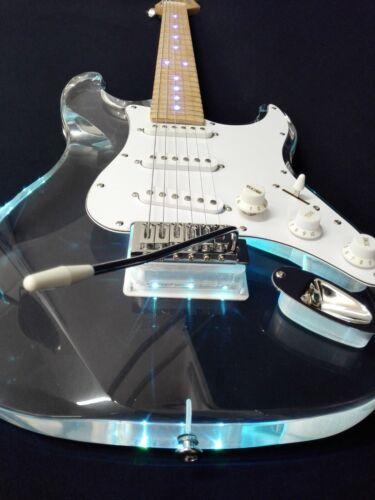 Haze Transparent Acrylic Electric Guitar w/Multi-color LED Lights + Bag  HD-200P