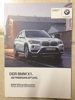 BMW X1 F48 2016 2017 Betriebsanleitung F48 Bedienungsanleitung Handbuch Auto CAR