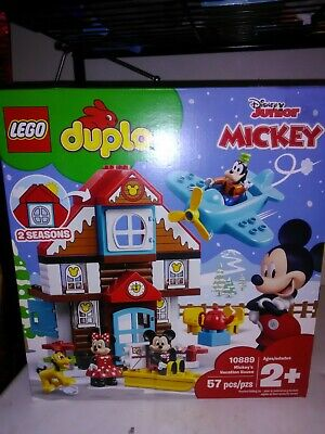 New Sealed Lego Duplo Disney Mickey's Vacation House 10889 Minnie Mouse Toy Set